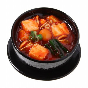 【メール便不可】食品サンプル屋さんのマグネット(スンドゥブチゲ)食品サンプル ミニチュア 雑貨 食べ物 韓国 海外 土産 リアル