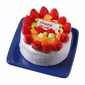 【メール便不可】食品サンプル屋さんのマグネット(バースデーケーキ:ホワイト)食品サンプル ミニチュア 雑貨 食べ物 誕生日ケーキ cake いちごケーキ 土産 リアル