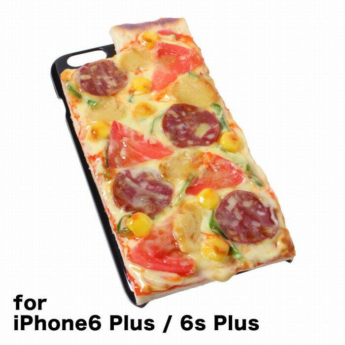 【メール便不可】食品サンプル屋さんのスマホケース(iPhone6 Plus/6s Plus:ピザ)食品サンプル カバー プラス 5.5 食べ物 スマートフォン iphoneケース
