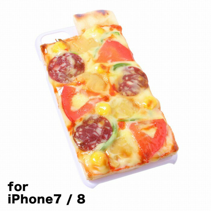 【メール便不可】食品サンプル屋さんのスマホケース(iPhone7&iPhone8:ピザ)食品サンプル 4.7 カバー 雑貨 食べ物 スマートフォン iPhone7 iPhone8 iphoneケース