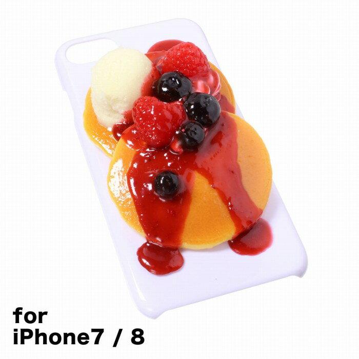 【メール便不可】食品サンプル屋さんのスマホケース(iPhone7&iPhone8:ベリーパンケーキ)食品サンプル 4.7 カバー 雑貨 食べ物 スマートフォン iPhone7 iPhone8 iphoneケース