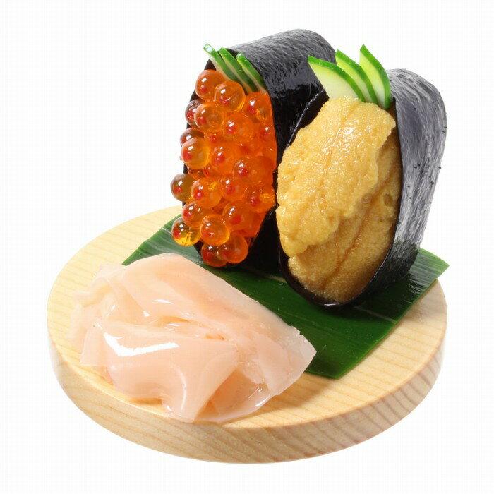 【メール便不可】食品サンプル屋さんのスマホスタンド(お寿司:いくら&ウニ)食品サンプル スマートフォン iPhone7 iPhone8 Android 寿司 おもしろ アクセサリー 雑貨 食べ物 フィギュア