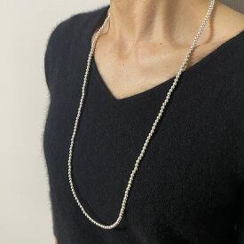Re:st 4mm silver peal necklace 80cm シルバーパール ロングネックレス インディアンジュエリー シルバー925 ネイティブ ハンドメイド チェーン ナバホパール シンプル ウエスタン モード かわいい 男性用 女性用 ユニセックス プレゼント ギフト 送料無料