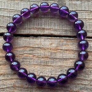 高品質 アメジスト ウルグアイ産 パワーストーン 8mm 数珠 ブレスレット 紫水晶 セール 恋愛運 天然石