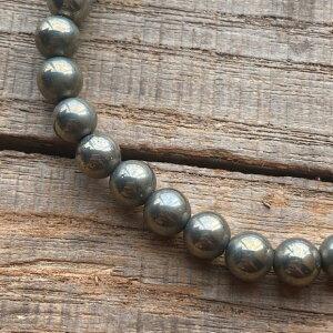 パワーストーン ゴールデンパイライト 5A 高品質 6mm 数珠 ブレスレット シンプル 石 メンズ レディース ファッション パイライト 魔除け 厄除け お守り おしゃれ さ