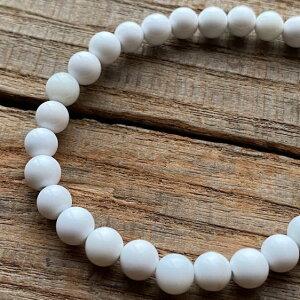 パワーストーン ホワイトオニキス 高品質 6mm 数珠 ブレスレット メンズ レディース ファッション 魔除け 厄除け お守り おしゃれ さざれ石 ブレス プレゼント