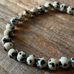 パワーストーン ダルメシアンジャスパー 高品質 6mm 数珠 ブレスレット シンプル 石 メンズ レディース ファッション お守り おしゃれ さざれ石 ブレス プレゼント