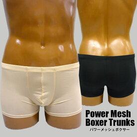 【メンズ 補正下着】[メール便対応]パワーメッシュボクサー[Power Mesh Boxer][セミハードタイプ][男性用 mens ウエスト ヒップアップ セクシーインナー 下着 アンダーウェア B308]