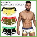 【ボクサーパンツ メンズ】[メール便対応]ローライズボクサー ZQF-1225[PINK HERO ピンクヒーロー][Lowrise Boxer][…