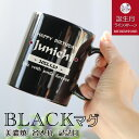 【 名入れ 】 マグ 《 ピアノ ブラック ストレート マグカップ 》 ■ 日本製 美濃焼 黒■ 誕生石 スワロフスキー付き …