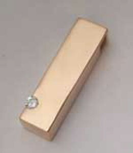 【遺骨ペンダント】18ピンクゴールド、柱型遺骨入れペンダント0.06ctダイヤ入り