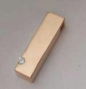 【文字入れ無料】【ダイヤがキラリ手元供養】K18ピンクゴールド柱型遺骨入れペンダント