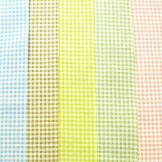 T/c gingham check fabric made in Japan (small) 5 colors 02P24Jun11