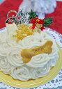 ワンコケーキ*ばらのクリスマスケーキ(犬用ケーキ)