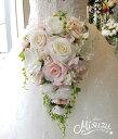 *misuzu* ほんのりピンク♪ 059 前撮り・海外挙式・リゾ婚 ブライダル 薔薇  ウェディングブーケ 造花ブーケ …