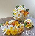 *misuzu*プルメリア 南国ウェディングブーケ 074 ハワイ 海外挙式 前撮り・海外挙式・リゾ婚 ブライダル