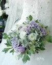 *misuzu*アンティークカラー 薔薇(バラ)ラナンキュラス&シルバーグリーンのクラッチブーケ 【選べる4色】 結婚式…