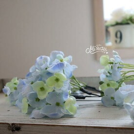 *misuzu*紫陽花(あじさい) 水色 3P 成人式 浴衣 前撮り 髪飾り 和婚 063-3b