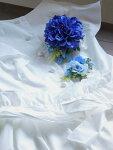 ナチュラルテイスト ダリアコサージュ2個セット【ブルー】 発表会 入学式 卒業式 パーティ 結婚式ギフト 親子でお揃い
