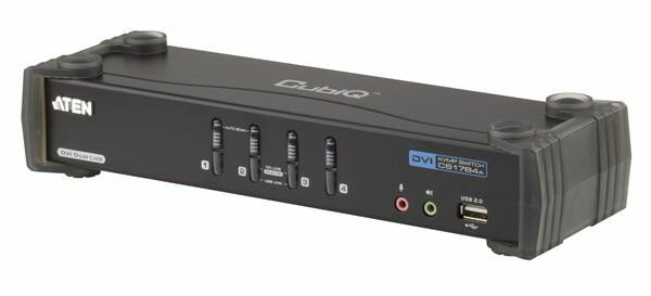 ATEN 4ポートDVI Dual Link対応 CPU切替器 【CS1784A】