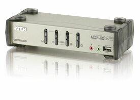 【送料無料】【3年保証】ATEN 4ポート USB / PS/2 デュアルインターフェース対応 KVMPスイッチ 【CS1734B】