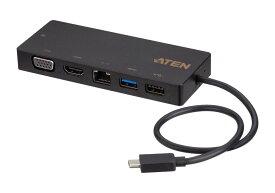 【UH3236】USB-C マルチポートミニドッキングステーション(電源パススルー対応) 【送料無料】【3年保証】