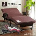 ★ポイント10倍★【組立設置/送料無料】くつろぐベッド 収納式 AX-BE835 (折りたたみベッド・電動ベッド) AX-BE835…