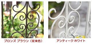 【送料無料!】ゴージャスアイアンアーチ&ゲート丈夫で頑丈、門扉(ゲート)をセットしたアイアンアーチ(ガーデンアーチ)選べる2色(ブロンズブラウン・アンティークホワイト)商品型番:ipn-7974