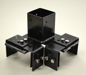 ブロック用ポール設置金具(コーナータイプ) 全高120cmまでの設置に使用可能 商品型番:bbc-101215