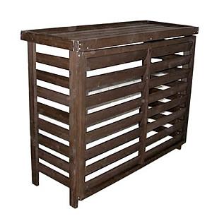 天然木製 ボーダーエアコンカバー(フロントルーバー)【ジャンボ】エコで省エネ室外機カバー(逆ルーバータイプ)商品型番:jsac-fl1100
