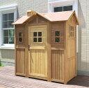 【ご利用順早い者勝ちクーポン進呈中!】 超大型 木製物置小屋 ポタジェモザイク ガーデンシェッド【送料無料!】商品型番:ptg-1950lbr