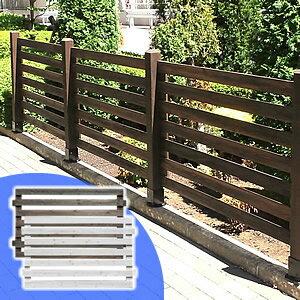 天然木製ボーダーフェンス【アウトルック】目かくし(目隠し)や境界にウッドフェンス・木製フェンス・ゲート(門扉)をDIY!商品型番:jsbf-766