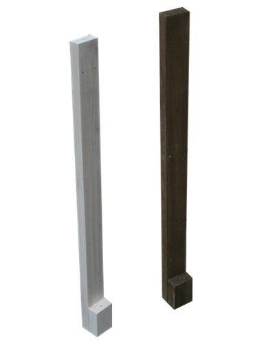 天然木製 ボーダーフェンス(ベランダdeウォール)用シンプルポール ロータイプ目かくし(目隠し)や境界にウッドフェンス・木製フェンス・ゲート(門扉)をDIY!商品型番:jsbp-985