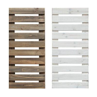 天然木製 ボーダーフェンス(ベランダ de ウォール)ショート 幅40cm目かくし(目隠し)や境界にウッドフェンス・木製フェンス・ゲート(門扉)をDIY!商品型番:jsbf-880-400t