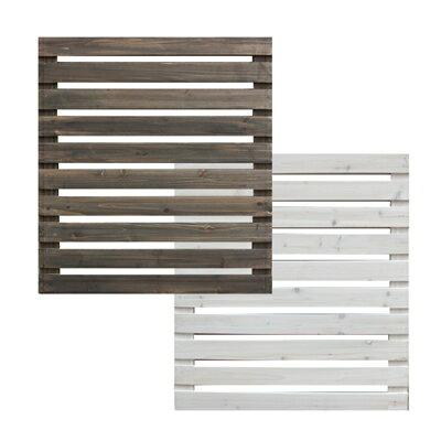 天然木製 ボーダーフェンス(ベランダ de ウォール)ショート 幅80cm目かくし(目隠し)や境界にウッドフェンス・木製フェンス・ゲート(門扉)をDIY!商品型番:jsbf-880-800t