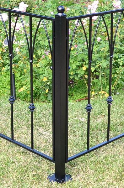エクステリアフェンス ポスト(支柱)仕切りや外構にピッタリのDIYアイアンフェンス(スチール・アイアン製)商品型番:ief-post01