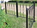 モダンエクステリアフェンス 【モンタナ】 (4枚セット)外構やお庭の仕切りに便利なゲートもつくれるアイアンフェン…