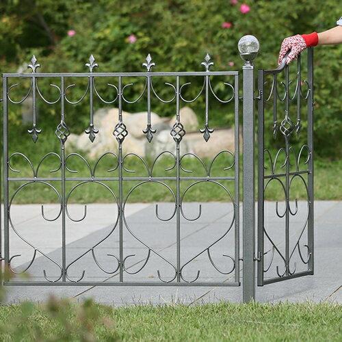 モダンエクステリアフェンス 【ハート】 4枚セット外構やお庭の仕切りに便利なゲートもつくれるアイアンフェンス(アイアン フェンス・スチール フェンス・ガーデンフェンス)です。 【色:シルバー】商品型番:ief-mdf86