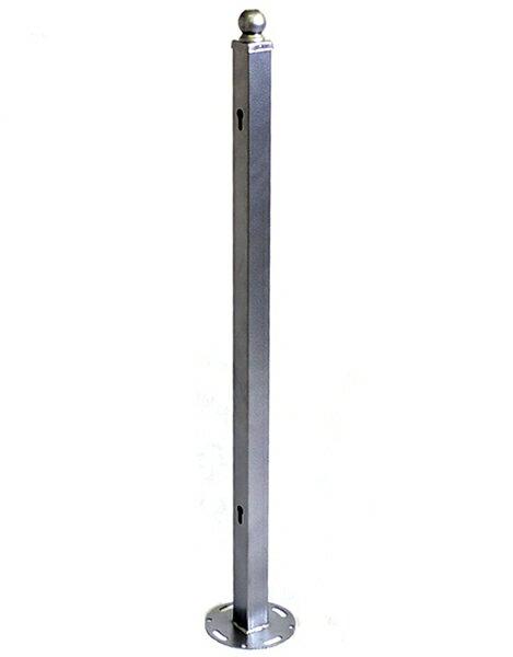 モダンエクステリアフェンスハンマートーンフェンス用ポスト(支柱) 【色:シルバー】仕切りや外構にピッタリのDIYアイアンフェンス(スチール・アイアン製)商品型番:ief-post02