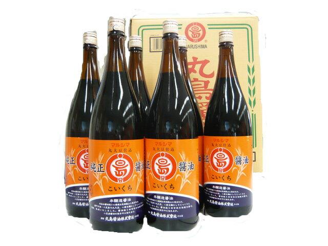 丸島醤油 純正醤油(濃口)1800ml 6本ケース販売品 マルシマ