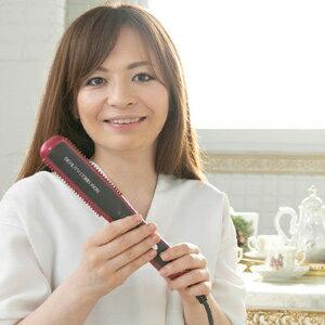 ブラシ型アイロン 【ビューティーコームアイロン】 【送料無料・代引料無料・保証付】 [髪をとかすだけで簡単にサロン仕上げのヘアアイロン]