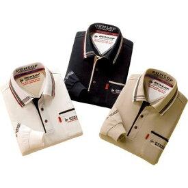 【在庫有】【Sサイズ】 ポロシャツ 3色セット 【送料無料】 ホワイト ブラック ベージュ メンズ 紳士用 長袖 【ダンロップ・モータースポーツ デザイン長袖ポロシャツ 同サイズ3色組】
