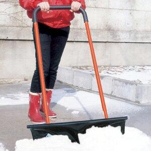 雪押し器 【キャスター付き 雪押し君 】[送料無料・代引料無料] スノープッシャー タイヤ付き 雪よけ スコップ 除雪器 雪押君 雪押くん 雪押しくん タイヤ