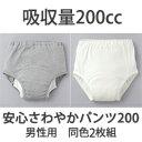 【送料無料】尿漏れパンツ 男性用【安心さわやかパンツ200男性用 同色2枚組】の通販