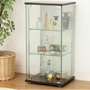 【送料無料】【ガラスコレクションケース3段 TMG-G02 1105548】 ガラスコレクションケース ガラス収納ケース 全面ガラス張り ディスプレイケース ショーケース
