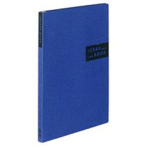 スクラップブックS(スパイラルとじ・固定式) A4 40枚 青/赤/茶/黄