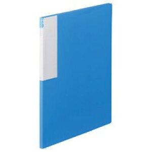 TANOSEE クリヤーブック A4タテ 36ポケット 10冊 ブルー/レッド/ダークグレー/オフホワイト/イエロー