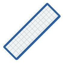 マグネット見出し カード寸法19×75mm 青  マク-402B   215-0758