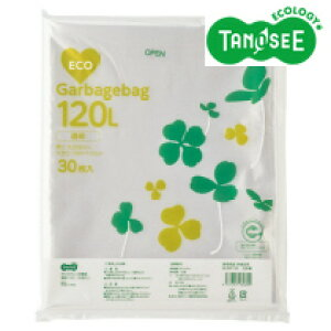 SE30P120 TANOSEE ポリエチレン収集袋 透明 120L 30枚入×6パック
