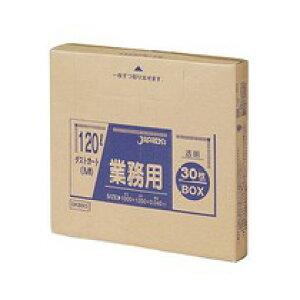 DKB93 業務用ダストカート用ゴミ袋 120L 透明 30枚入BOX